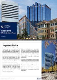 Citi-SGX-REITAS REITs & Sponsors Forum