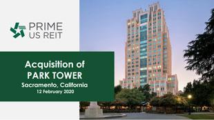Acquisition of PARK TOWER Sacramento, California
